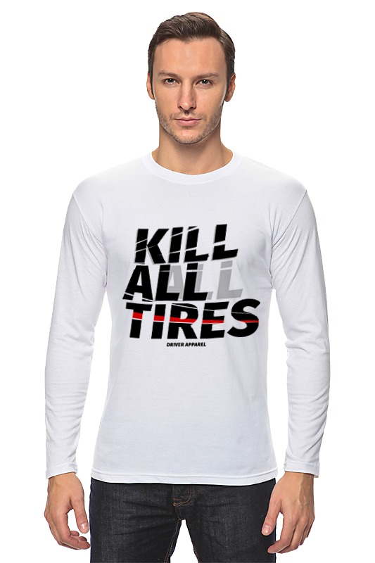 Лонгслив Printio Kill all tires - drift car наушники philips she1350 черные