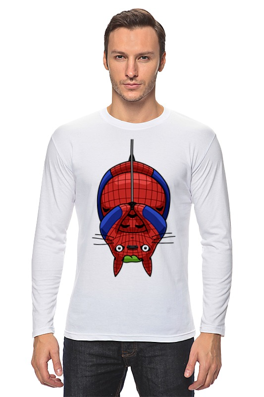 Лонгслив Printio Кот (человек паук)