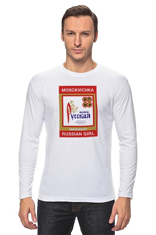 Лонгслив Printio Русская водка. москвичка. водка водка cocktail b52 3 50ml