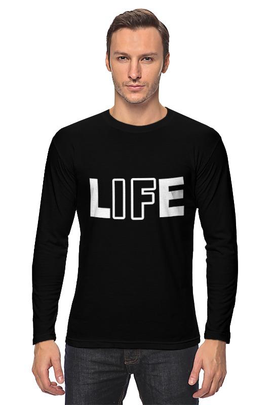 Лонгслив Printio Life - жизнь
