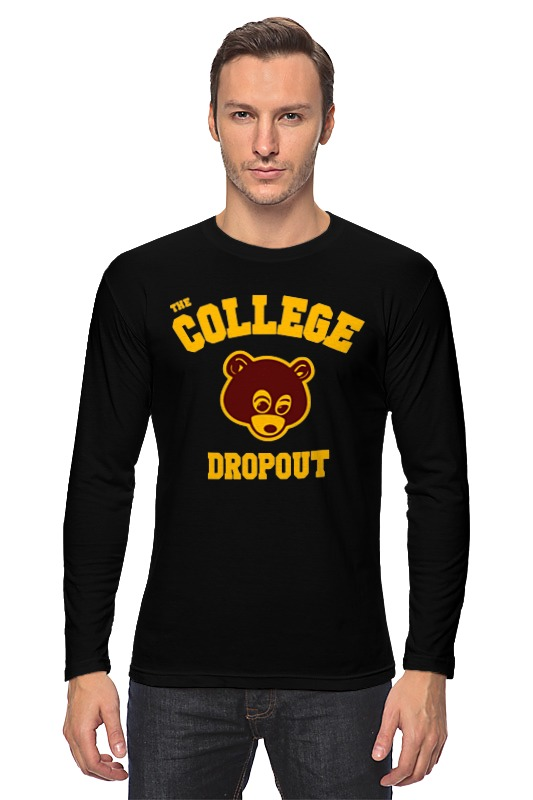 Лонгслив Printio The college dropout college adjustment during the freshman year