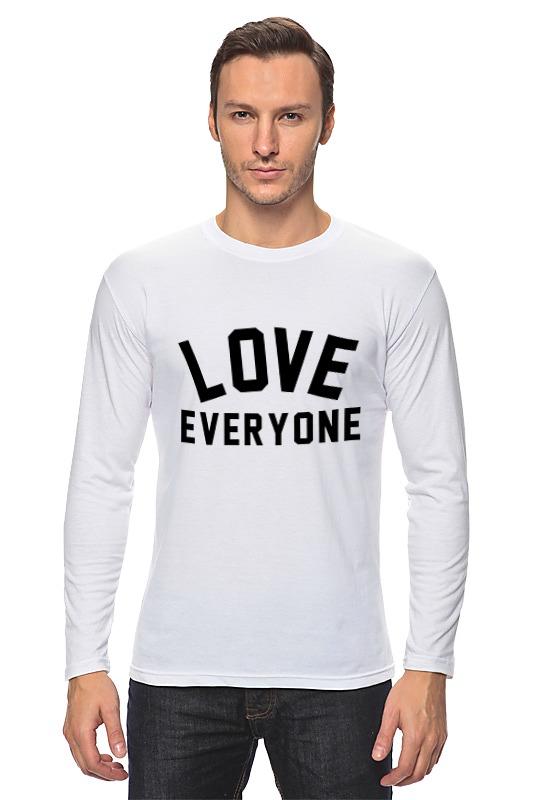 Лонгслив Printio Любить всех