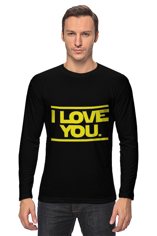 Лонгслив Printio I love you star wars цена