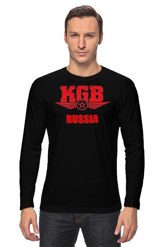купить Лонгслив Printio Kgb russia по цене 1709 рублей
