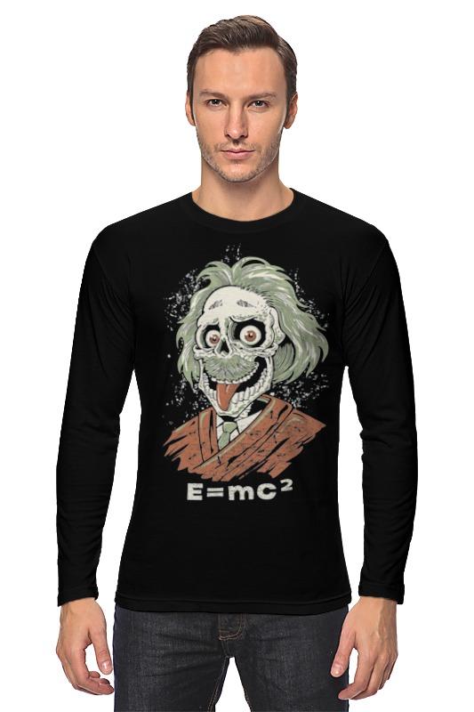 Лонгслив Printio Зомби эйнштейн майка классическая printio зомби эйнштейн