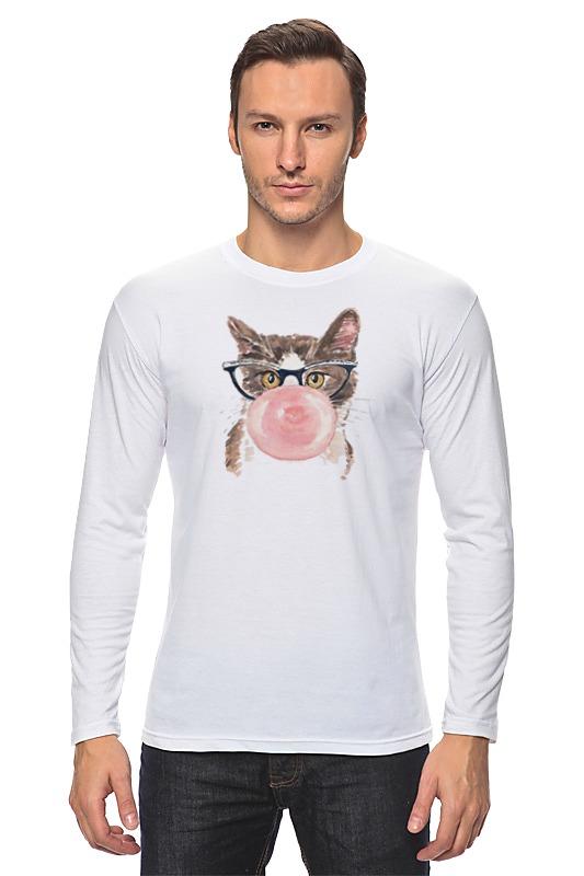 Фото - Лонгслив Printio Забавная кошка михаил кречмар полосатая кошка пятнистая кошка