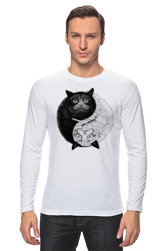 Лонгслив Printio Угрюмый кот инь-янь
