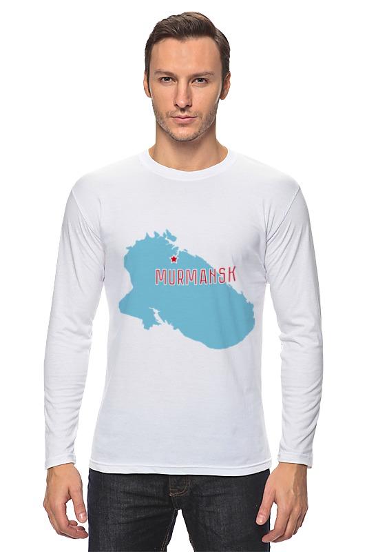 Лонгслив Printio Мурманская область. мурманск футболка just cavalli just cavalli ju662ewbpuo6