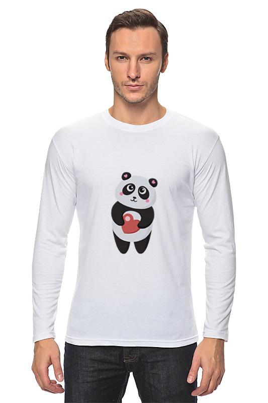 Лонгслив Printio Панда с сердечком свитшот print bar панда гангста