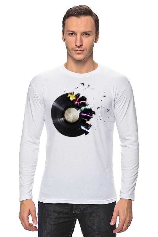 Лонгслив Printio Виниловая пластинка футболка для беременных printio виниловая пластинка