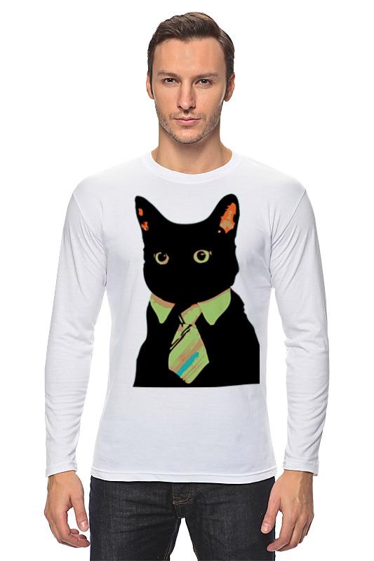 Лонгслив Printio Деловой кот деловой костюм tailored
