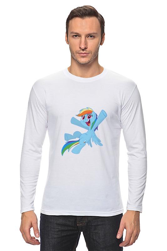 Лонгслив Printio My little pony- rainbow dash фигурка funko pop vinyl my little ponny rainbow dash sea pony