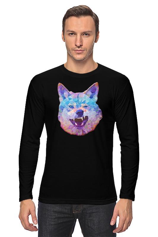 Лонгслив Printio Абстрактный волк цена