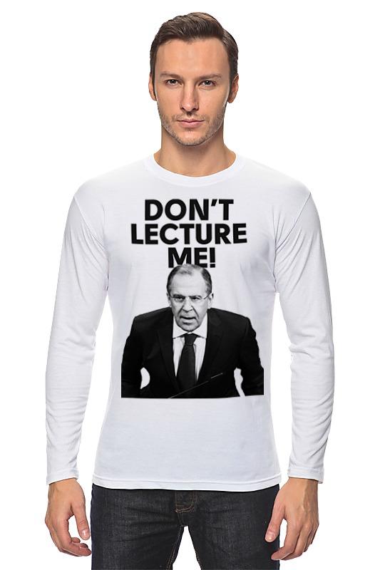 Лонгслив Printio Don't lecture me! lavrov