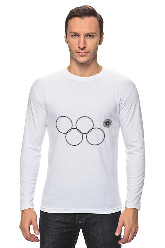 Лонгслив Printio Олимпийские кольца в сочи 2014 кольца кюз дельта 114454 d