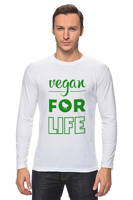 Лонгслив Printio Vegan for life отсутствует природные ресурсы и окружающая среда