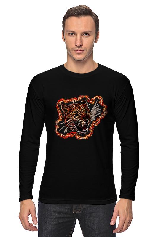 Лонгслив Printio Леопард азбука леопард