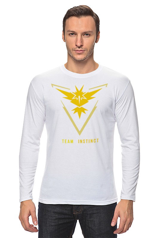 Лонгслив Printio Pokemon go team instinct свитшот print bar pokemon go instinct team