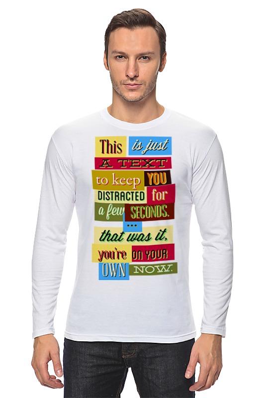 Лонгслив Printio Text футболка классическая printio text