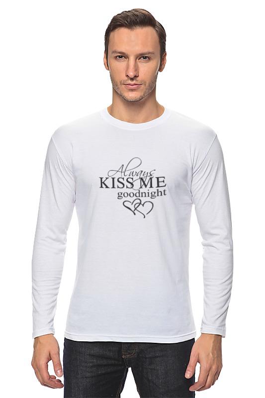 цены Лонгслив Printio Всегда целуй меня на ночь
