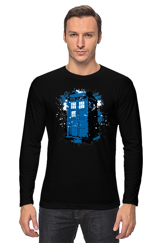 Лонгслив Printio Tardis ink худи print bar tardis ink