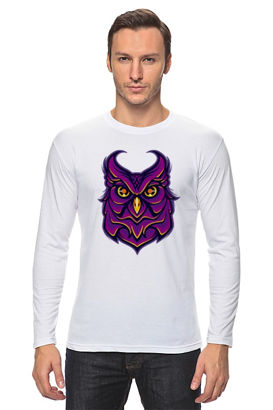 Лонгслив Printio Ночная сова (owl) максименко н почему сова летает только ночью why the owl flies only by night