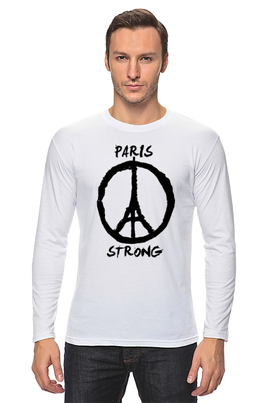 Лонгслив Printio Париж сильный (мир парижу)
