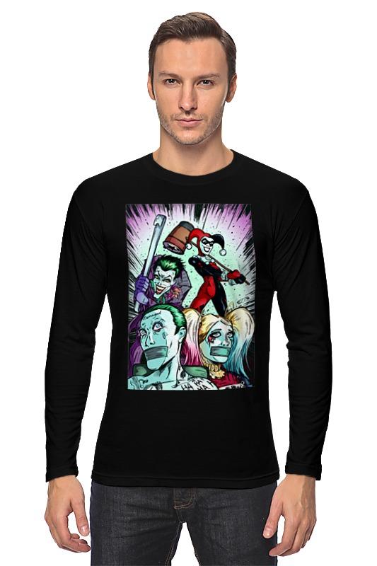 Лонгслив Printio Harley quinn and joker movies comics suicide squad the joker harley quinn enchantress and bat man short wallets with card holder purse