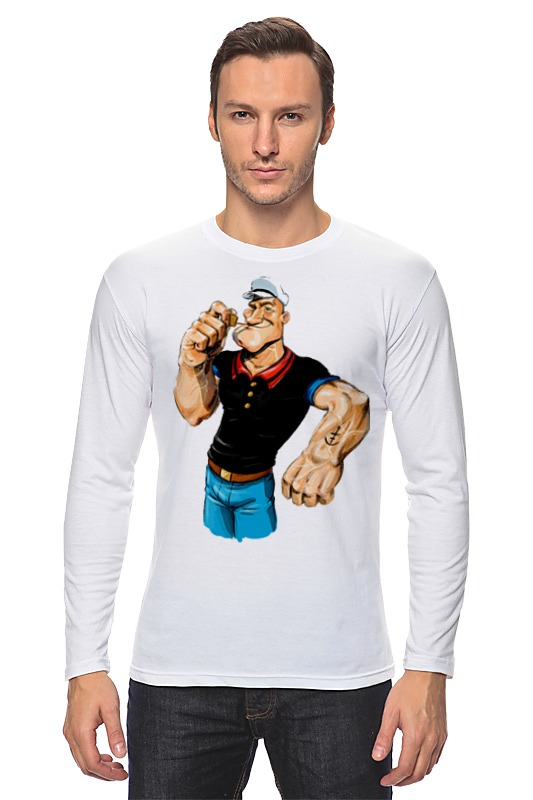 Лонгслив Printio Попай/popeye футболка рингер printio моряк попай popeye the sailor