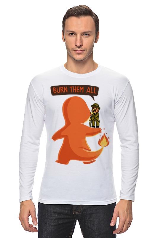 Лонгслив Printio Burn them all (pokemon)