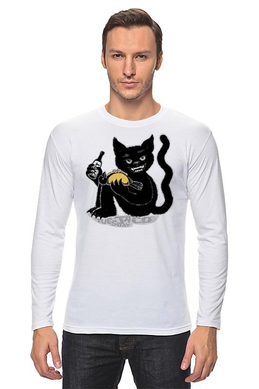 Лонгслив Printio Наглый чёрной кот футболка классическая printio наглый чёрной кот
