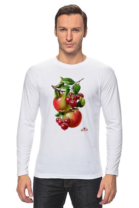 Лонгслив Printio Яблочки, вишенки детская футболка классическая унисекс printio яблочки вишенки