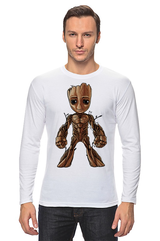 Лонгслив Printio I am groot (guardians of the galaxy) брелок funko pop marvel guardians of the galaxy – baby groot
