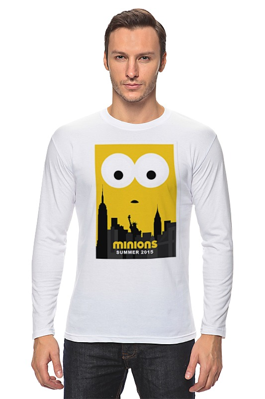 Лонгслив Printio Minions summer 2015 обложка для автодокументов gianni conti цвет черный