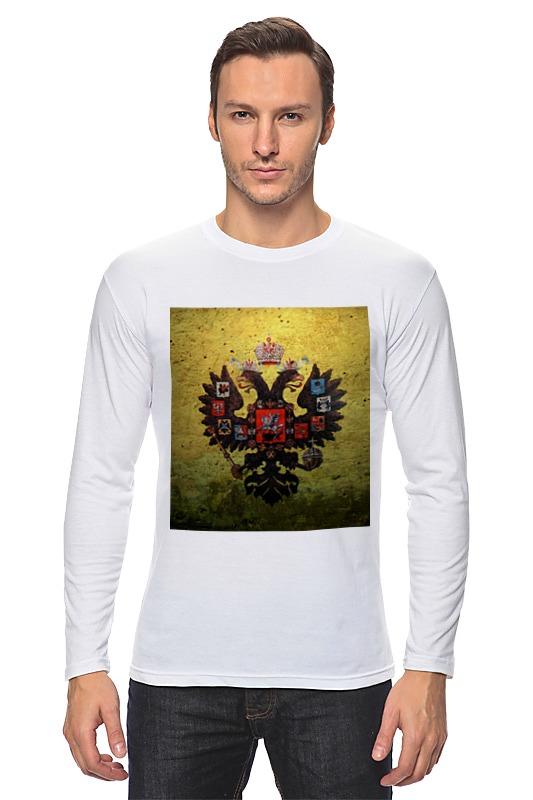 Лонгслив Printio Госуда́рственный герб росси́йской федера́ции футболка для беременных printio госуда́рственный герб росси́йской федера́ции