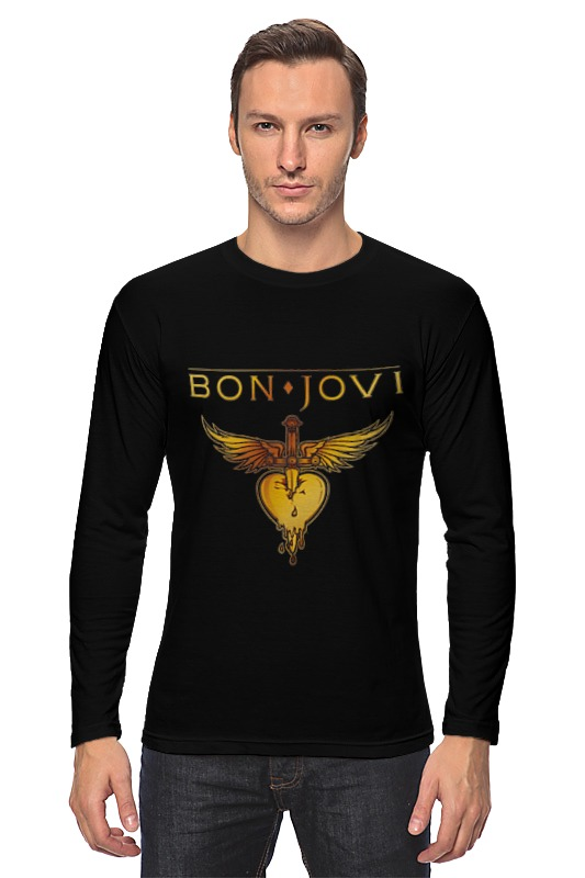 Лонгслив Printio Bon jovi bon jovi in their own words