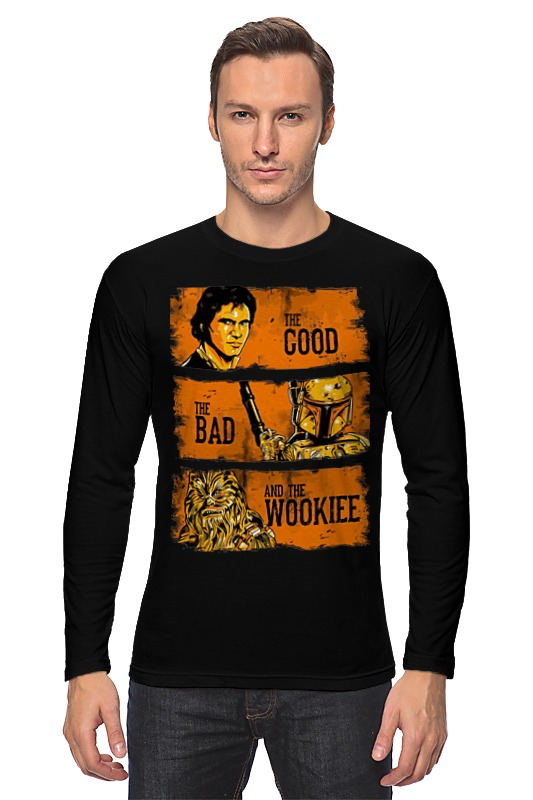 Лонгслив Printio The good, the bad and the wookie толстовка wearcraft premium унисекс printio the good the bad and the wookie