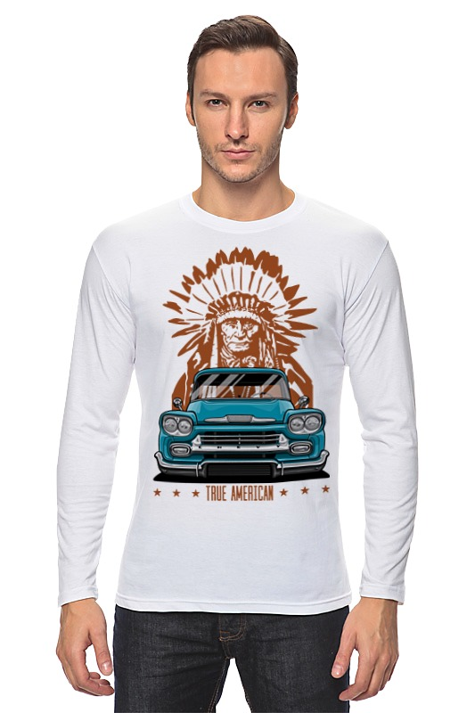Лонгслив Printio Chevy apache pickup truck футболка рингер printio chevy apache pickup truck