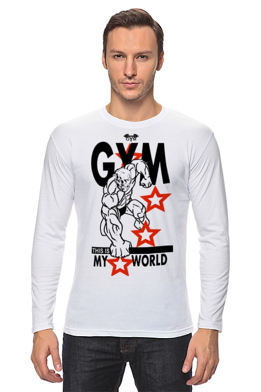 Лонгслив Printio Gym this is my world! футболка wearcraft premium printio gym this is my world page 2 page 7