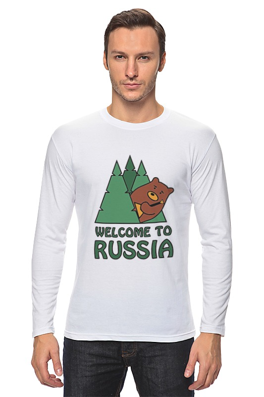 Лонгслив Printio Welcome to russia лонгслив printio welcome to russia