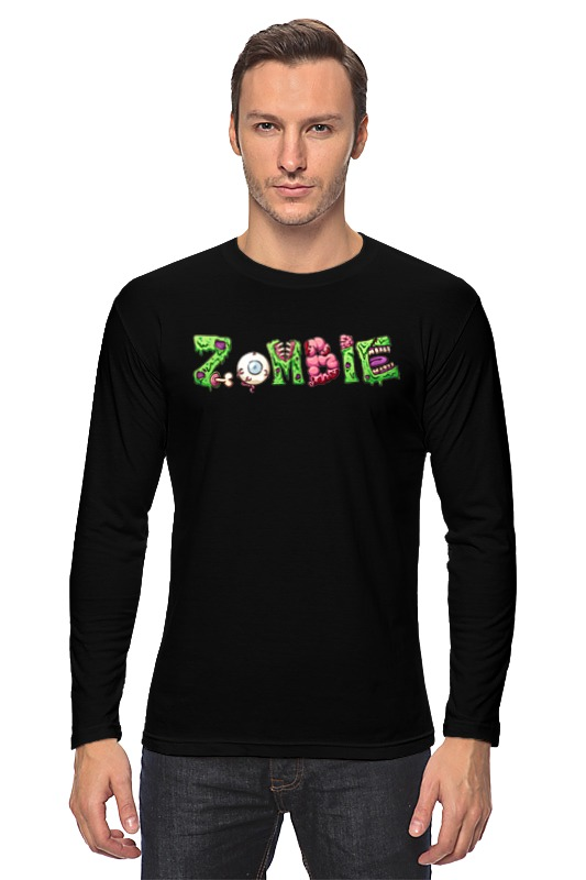 Лонгслив Printio Zombie halloween costumes for kids cosplay zombie scary intestines clothes stage outfits for children set horror night zombie clothing