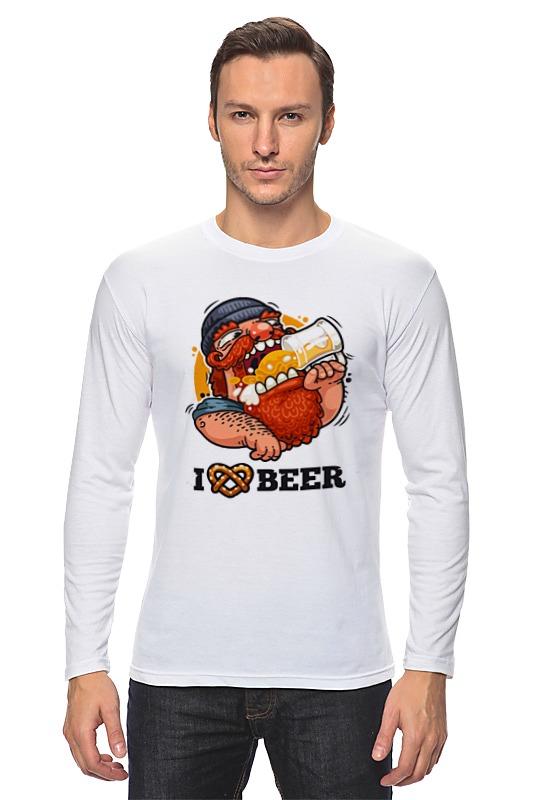 Лонгслив Printio Я люблю пиво (i love beer) майка классическая printio я люблю пиво i love beer