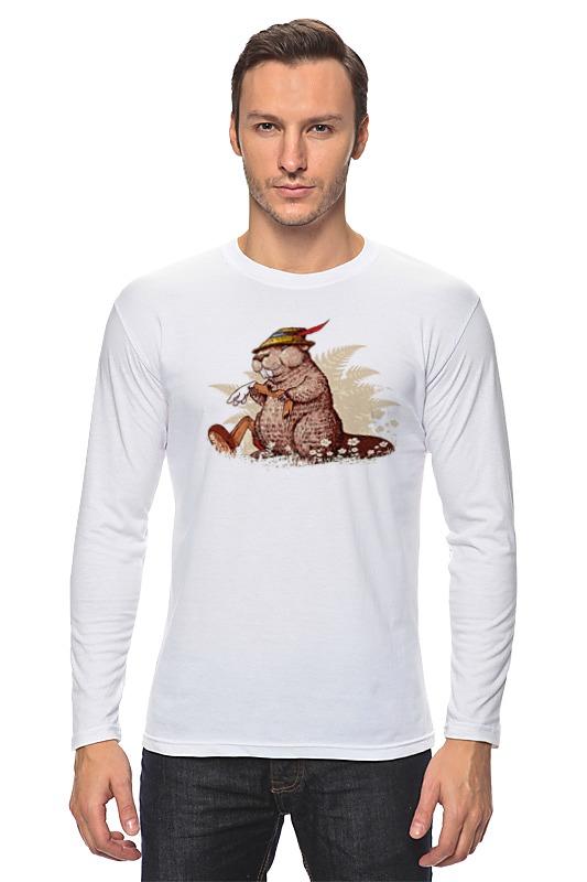 Лонгслив Printio Кролик в охотничьей шляпе кролик белый великан в спб купить
