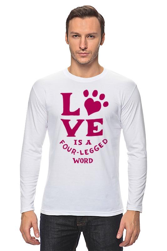 Лонгслив Printio Любовь и собака