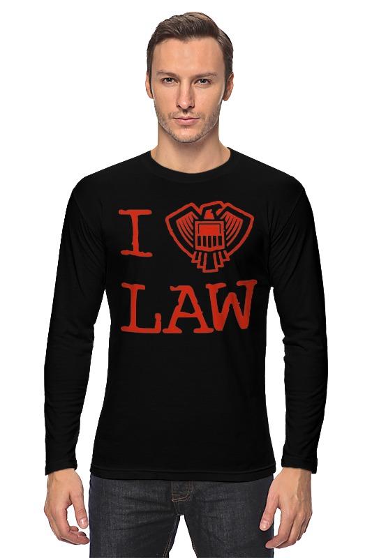 Лонгслив Printio Я закон (судья дредд)