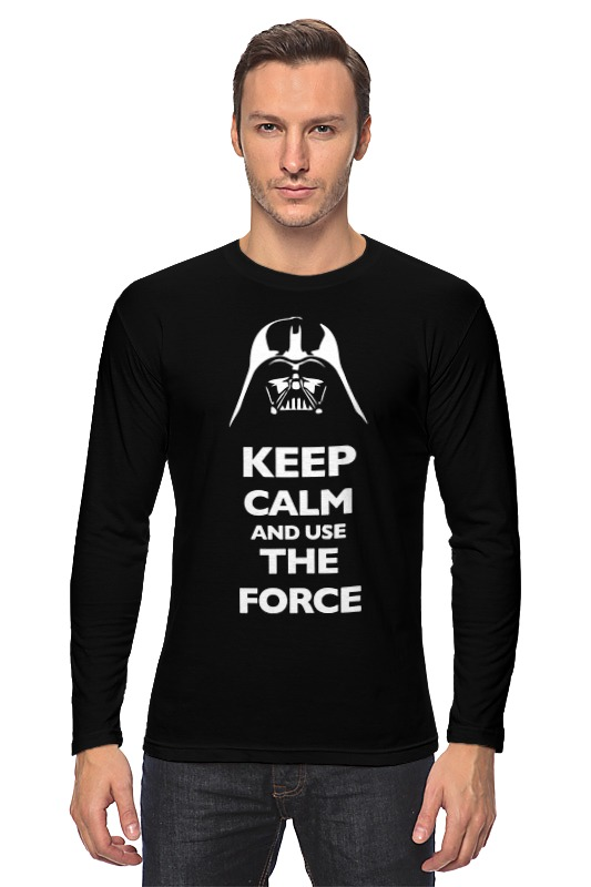 Лонгслив Printio Keep calm and use the force (star wars) лонгслив printio keep calm and use the force star wars