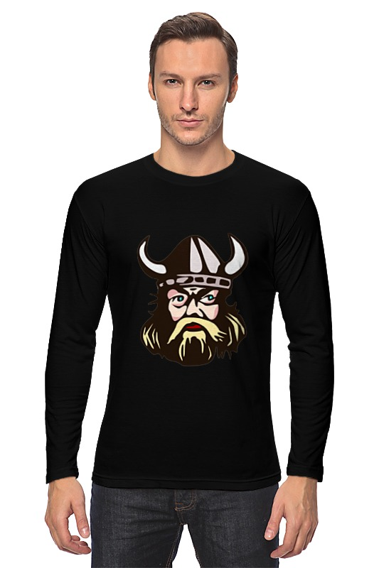 Лонгслив Printio Веселый викинг футболка викинг
