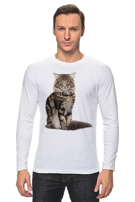 Лонгслив Printio Милый пушистый кот куплю кота мейн кун полукровки за 1000 рублей в москве