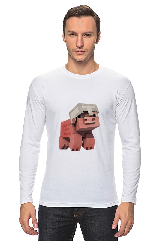 Лонгслив Printio Довольная свинка в шлеме