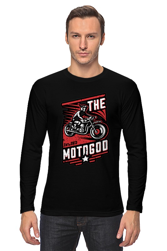 Лонгслив Printio The motogod цена